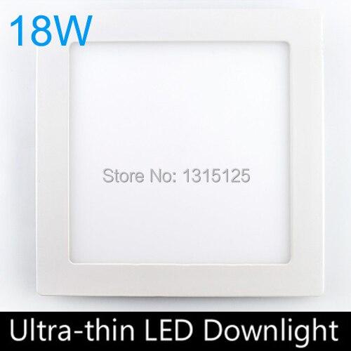 Ultra thin 18W LED panel lights / Square led panel downlight 200mm hole 2pc/lot emergency light free shipping