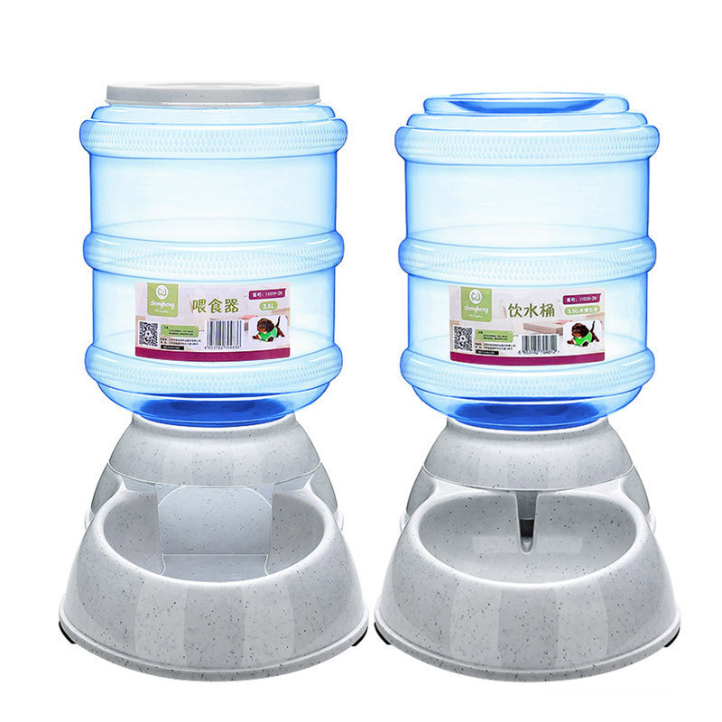 3.5L Large Automatic Pet Feeder Drinking Fountain For Cats Dogs Environmental Plastic Dog <font><b>Food</b></font> Bowl Pets <font><b>Water</b></font> Dispenser