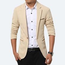 New 2017 Spring and Autumn thin Casual Men Blazer Cotton Slim England Suit Blaser Masculino Male Jacket Blazer Men Size M-5XL
