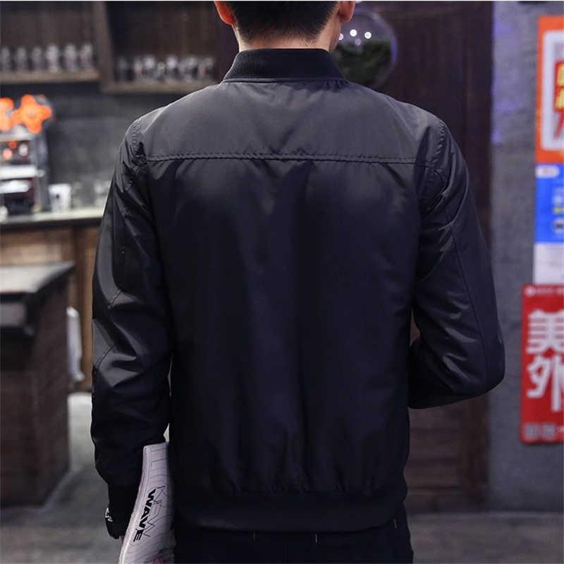 男性の生き抜くジャケットカジュアル固体ストリート男性野球ジャケット爆撃機メンズヒップホップ 2019 従来のスプリング秋の男性のコート
