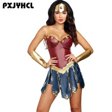 Wonder Woman Cosplay Costumes Adult Justice League Super Hero Christmas Halloween Sexy Women Fancy Dress Diana