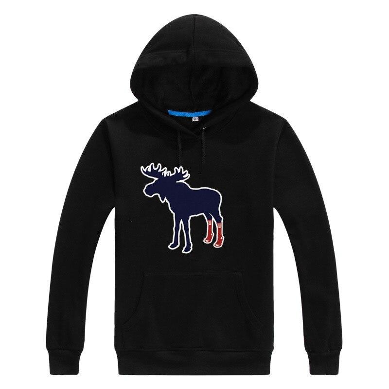 2017 popular Sox On Moose With Socks Boston Fan merry christmas Men Sweashirt Women warm hoodies