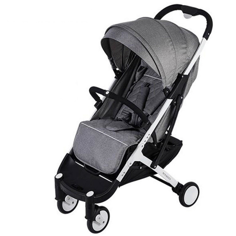 Baby Travel Stroller Ultra-lightweight Folding Pram High Landscape Umbrella Baby Trolley Siting and Lying Pushchair