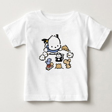 Digital Cartoon printing pochacco children Pure cotton T - shirt Cute cartoon dog summer boy and girl T shirt short sleeves kids