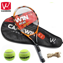 Buy CAMEWIN 1 Piece Hight-quality Carbon Fiber Tennis Racket with Tennis Bag Men