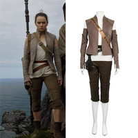 Star Wars The Last Jedi Rey Costume Rey Cosplay Star Wars 8 Rey Halloween Cosplay Costume Adult Women Carnival Party Custom Made