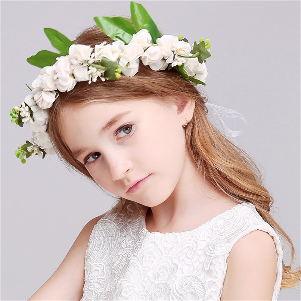 1 Set Bohemia Flower Floral Hairband+bracelet Children Girls Crown Headband Party Wedding Headwear Hair Accessories women girl bohemia bridal camellias hairband combs barrette wedding decoration hair accessories beach headwear