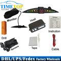 DHL/Fedex/UPS 50 шт./лот PZ301 СВЕТОДИОДНЫЙ Цифровой Датчик Парковки Автомобилей Резервного Обратный Радиолокатор Системы с 4 Датчиками
