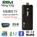 Newest XBMC 2GB RAM Rikomagic MK802IV RK3188 Quad Core Android 4.2 Smart TV Box HDMI Mini PC Stick Dongle Bluetooth RKM MK802 IV