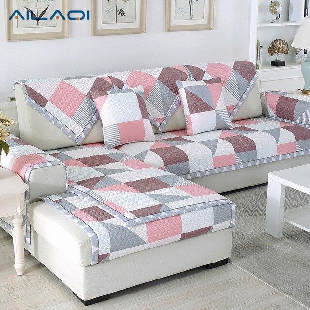 Ailaqi Winter New Sofa Mat Fabric Anti Skid Leather Sofa Cushion