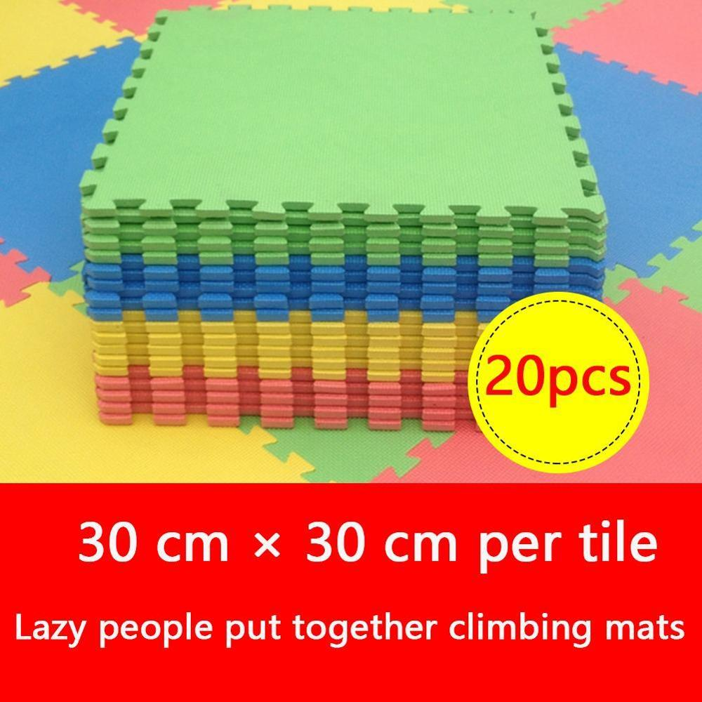 20 pc/Lot bébé EVA mousse jouer Puzzle tapis entrelacé exercice tapis de sol tapis pour enfant jouets tapis pour enfants chaque 30x30 cm