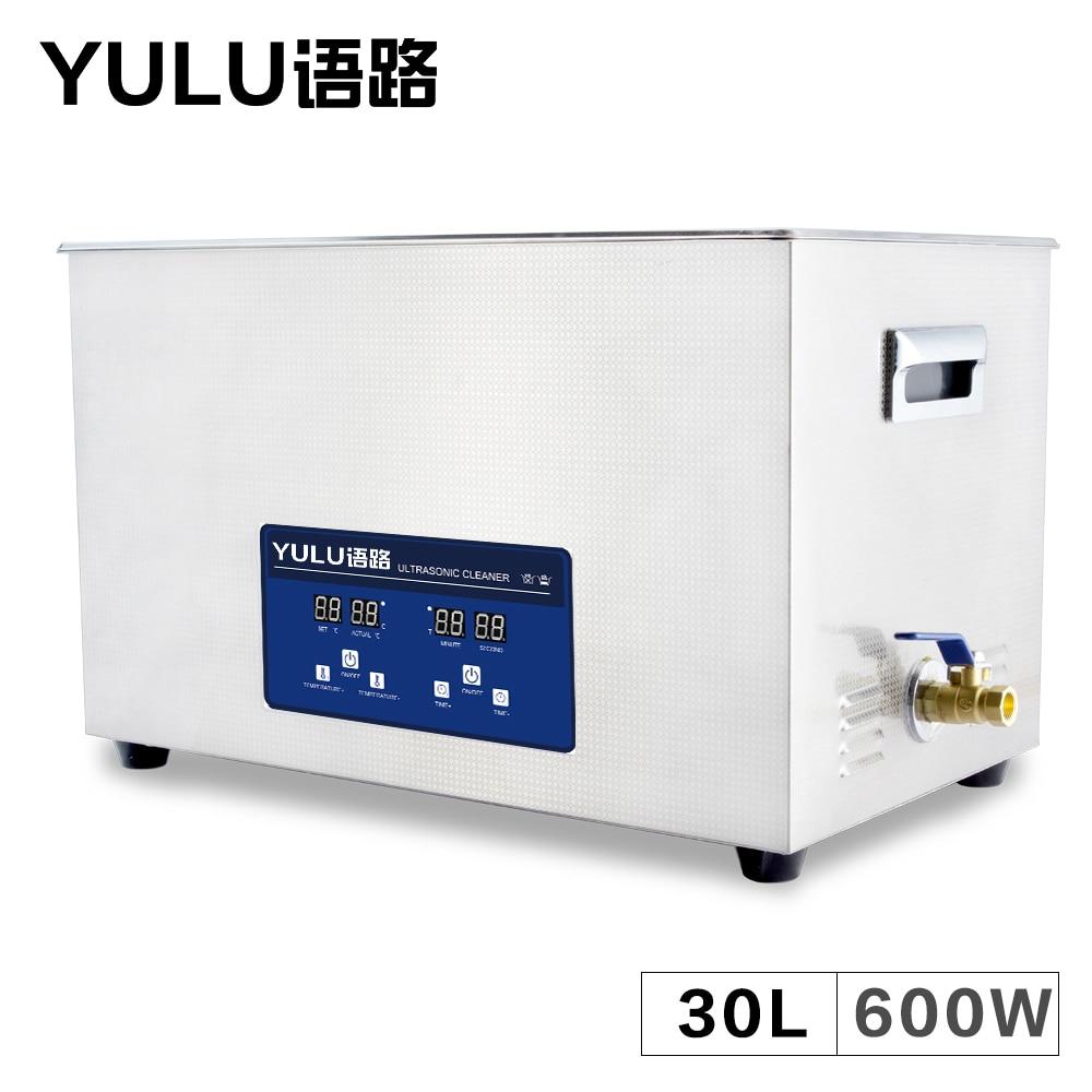 все цены на Digital Ultrasonic Cleaner 30L Bath Circuit Board Auto Parts Mold Lab Instrument Time Heater Tanks Ultrasound Washing Machine онлайн