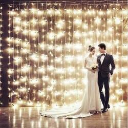 4,5 м x 3 M 300 светодиодный Главная Открытый Праздник Рождества декоративные свадебные xmas Строка Фея Шторы гирлянды Полосы Вечерние огни
