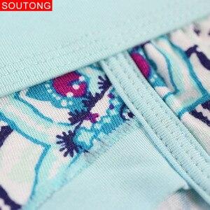 Image 4 - Soutong Calzoncillos slip suaves estampados para hombre, ropa interior, Sexy, Modal, 4 unidades/lote
