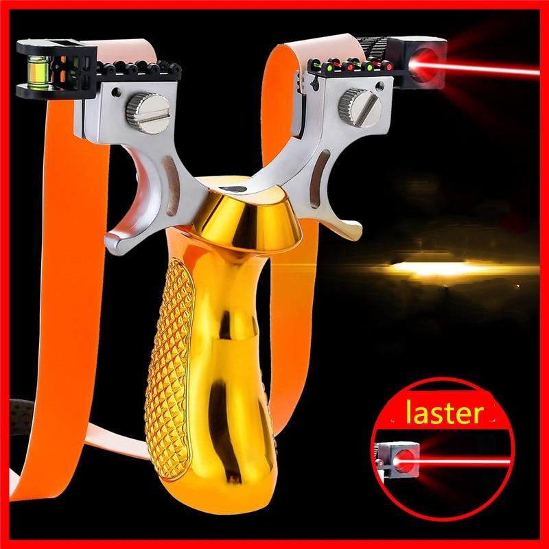 Laser Aiming Infrared Slingshot 2019 New Slingshot Outdoor Hunting Big Power Suitable For Novice Slingshot 4 Colors Can Choose