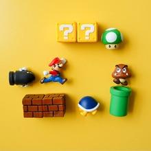 Combination 3D Super Mario CartoonMagnetic Refrigerator Stickers Home Decor Message Information Fridge Magnet