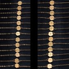 Модный золотой браслет 26 букв и браслет для женщин, простые регулируемые именные браслеты, ювелирные изделия, вечерние браслеты, подарок