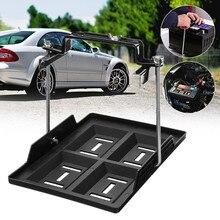 Универсальный автомобильный батарейный лоток регулируемый фиксатор зажим Кронштейн цикл 19x28 см утопленные Слоты металлический черный Автомобильный/морской