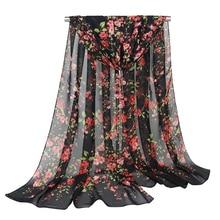 fashion fancy floral head scarf silk women capes summer hijab foulard femme bufanda mujer shawls