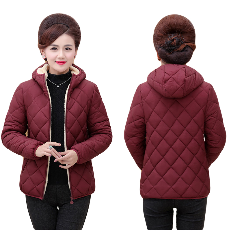 Plus Size 5xl Ultra Light Autumn Winter Jacket High Quality Solid Colors Hooded Short   Parkas   Coat And New Arrival Mom's Overcoat