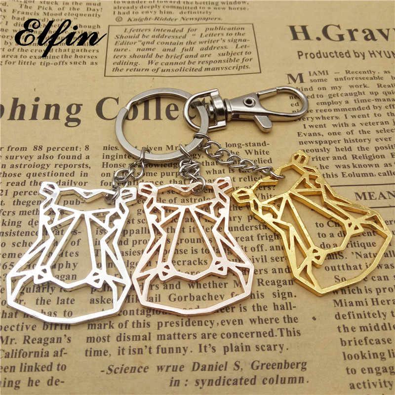 Elfin היפופוטם חדשה נקבת זכר חמוד אופנה מחזיקי מפתחות מחזיקים מפתחות היפופוטם היפופוטם תכשיטים ומתנות