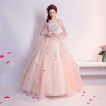 Angel Wedding Dress Marriage Evening Bride Party Prom Bridal Gown Vestido De Noiva 2017 Flowers, lace 5912