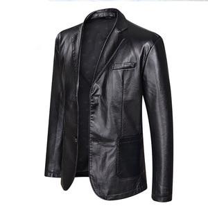 Image 2 - Dropshipping xuân thu rời lưng áo khoác da nam Plus da size áo khoác nam phối da