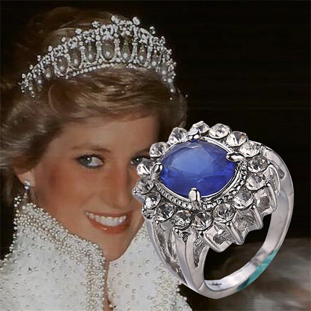 2016 fashion imitation diamond jewelry wedding ring british royal princess kate ring prince william sapphire ring - Princess Kate Wedding Ring