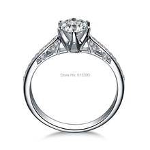 ZOCAI Love Is Destiny 0.42 CT Certified I-J / SI Diamond Engagement Women Ring 18K White Gold (Au750) W00105