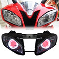 NEW Projector Headlight 35W HID White Angel Halos Red Demon Eyes Fit For Yamaha YZF R6 2006-2007