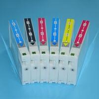 D700 6 kleuren 200ml Dye Inkt voorgevulde Compatibele Inkt Cartridge met Chip voor Epson SureLab T7821-T7826