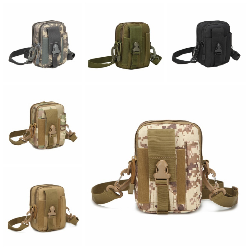 Camping & Hiking Sports & Entertainment Outdoor Militarytactic Bag Nylon Waterproof Waist Bag Camouflage Sports Bags For Camping Hiking Molle Tactic Shoulder Bag