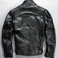 Envío gratis nuevos hombres 2016 Harley Cráneos traje moto cuero genuino primera capa de piel de vaca de la motocicleta chaqueta Especial