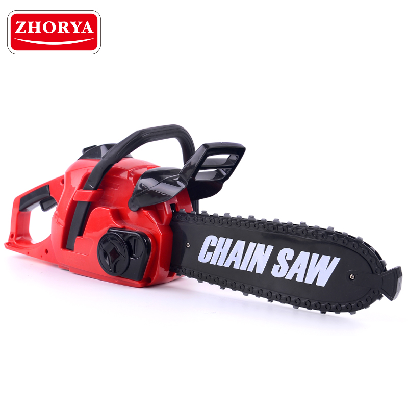 Zhorya Repair Tool Pretend Play Toys Rotating Chainsaw with Sound Simulation Power Tool Early Educational Toy for Children Gifts