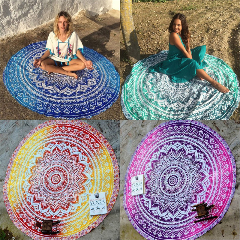 Decoration Carpet On The Wall : Yoga mat indian wall hanging beach throw towel