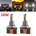 2pcs! 20W H15 LED Car Fog Light Bulb White Headlight DC 12V/24V 360 Degree 720lm 6000K Auto Head Light Fog Lamps with 4 SMD LEDs
