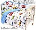 Promoção! 6 / 7 PCS olá Kitty fundamento do bebê jogo dos desenhos animados crib set 100% algodão bebê pára choque roupas de cama, 120 * 60 / 120 * 70 cm