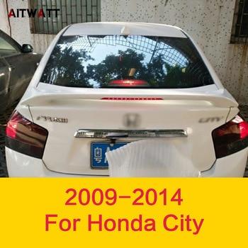 Ala trasera Spoiler con luz Led para Honda 2009 de la ciudad de 2010, 2011, 2012, 2013, 2014 de Spoiler de plástico ABS sin pintar Primer pegatinas de coche