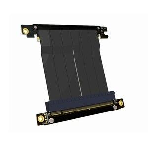 Image 5 - Cabo adaptador de placa mãe pcie x16 para x16, extensão de placas gráficas com ângulo de 90 graus para itx, placa mãe, chassis, mini pc estojo