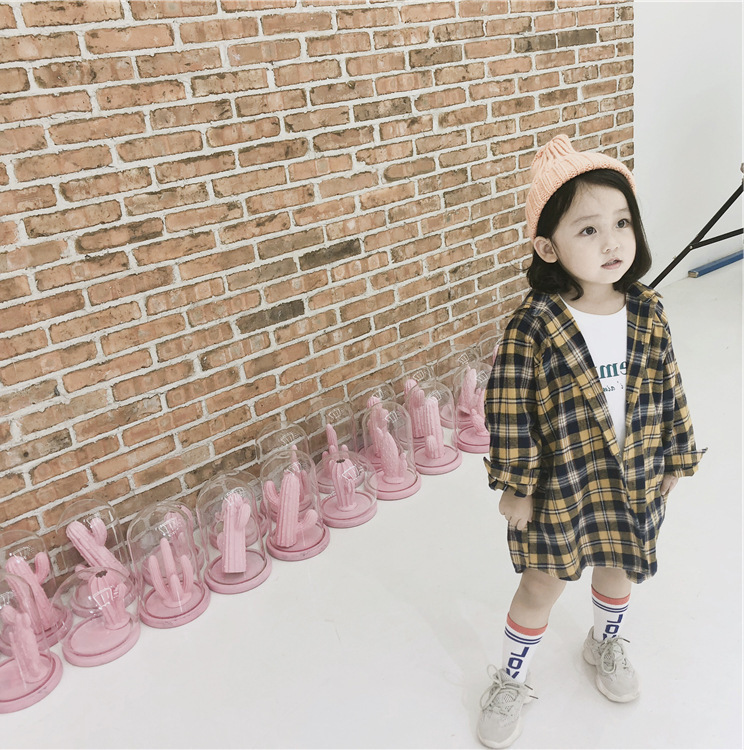 Fashion Baby plaid shirts for girls blouses and tops 2019 spring autumn children lattice clothing outerwear kids cotton clothes