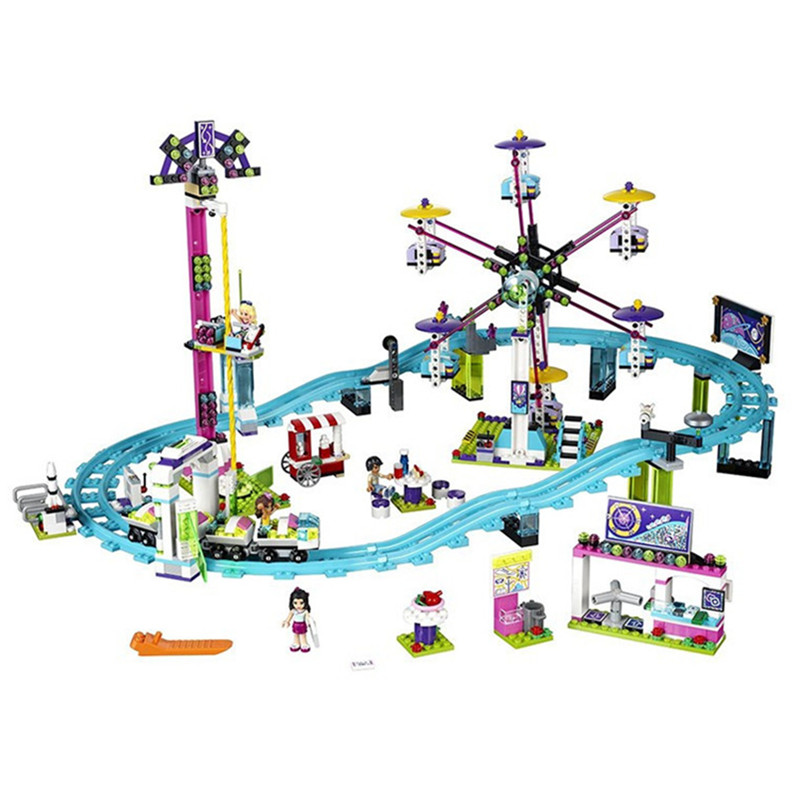 Lepininge Friends Building Block Compatible With Legoingly City Amusement Park Bricks Toys For Children Brinquedos birthday kids 10162 friends city park cafe building blocks bricks toys girl game toys for children house gift compatible with lego gift