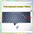 """A Estrenar Para MacBook Pro 13.3 """"A1278 teclado Ruso 100 unids teclado Pequeño Entrar RS tornillos 2008-2014 Años"""