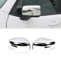 Pair Chrome Rearview Side Wing Mirror Cover for Jeep Renegade 2015 2016 2017 Exterior Molding Trim