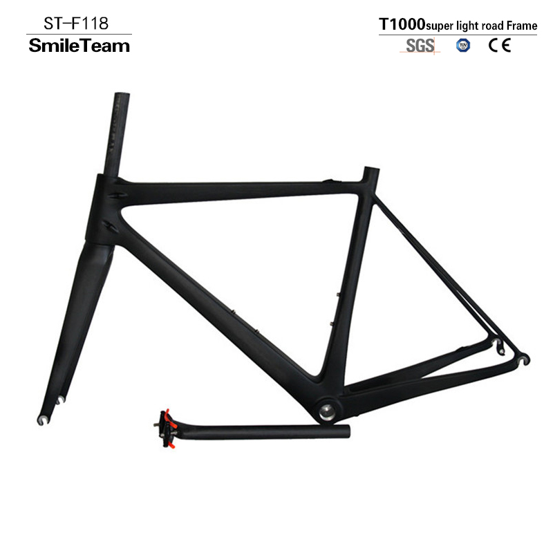 2017 Model SmileTeam T1000 Super Light Chinese Factory Road Full Carbon Bicycle Frame,Carbon Bike Frame with Fork/Seatpost/Clamp недорого