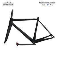 2017 Model SmileTeam T1000 Super Light Chinese Factory Road Full Carbon Bicycle Frame Carbon Bike Frame