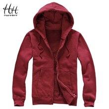 HanHent Männer Fleece Hoodies 2017 Herbst Winter Fashion Zipper Warme Männer Kleidung Jacken Fitness Grundlegende Sweatshirt Männer L XXXL