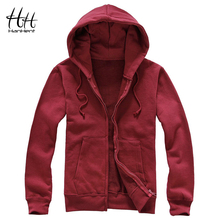HanHent Men Fleece Hoodies 2017 Autumn Winter Fashion Zipper Warm Men Clothing Jackets Fitness Basic Sweatshirt Men L XXXL