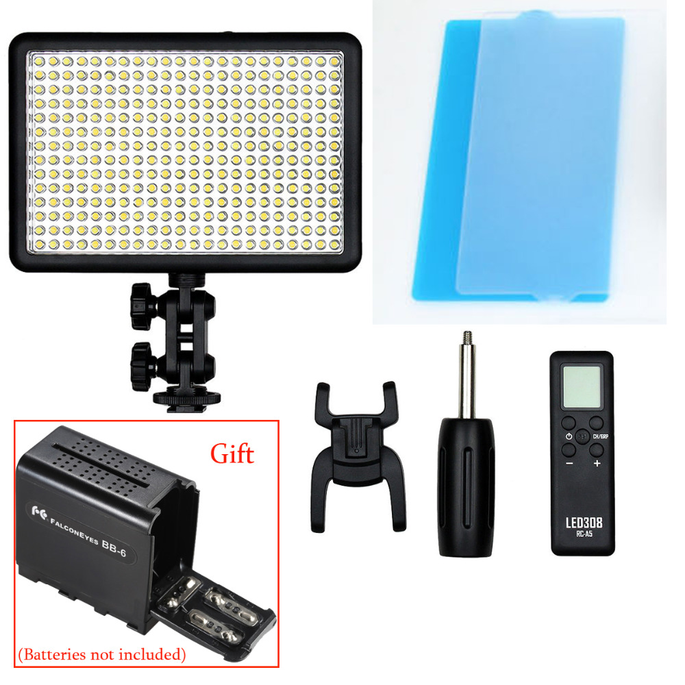 Godox LED308Y 308 LED 3300K LED Video Light Lamp for JVC DV Camcorder DSLR Camera godox professional led video light