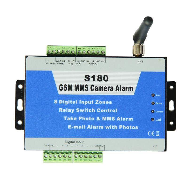 GSM MMS camera controller S180 remote switch PIR motion detector