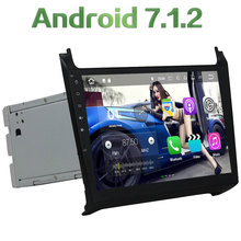 "Quad Core 2 GB RAM 16 GB ROM Android 7.1.2 Bluetooth Estéreo HD 10.1 ""Pantalla táctil 12 V 2 DIN FM coche Radios para Volkswagen Polo 2015"